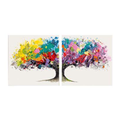 bilder set magic tree 2 teilig arcrylfarbe auf. Black Bedroom Furniture Sets. Home Design Ideas