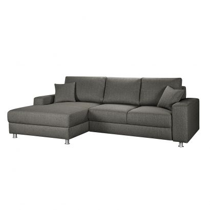 boxspring ecksofa m mbris mit schlaffunktion webstoff home24. Black Bedroom Furniture Sets. Home Design Ideas