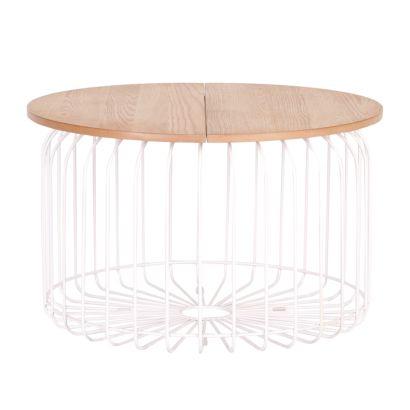 couchtisch wire von says who aus holz und metall online kaufen home24. Black Bedroom Furniture Sets. Home Design Ideas