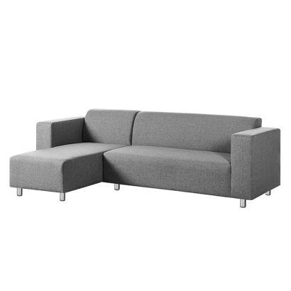 roomscape ecksofa mit longchair f r ein modernes heim home24. Black Bedroom Furniture Sets. Home Design Ideas