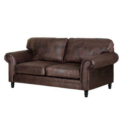 Jetzt bei home24 3 sitzer einzelsofa von furnlab home24 - Sofa antiklederoptik ...