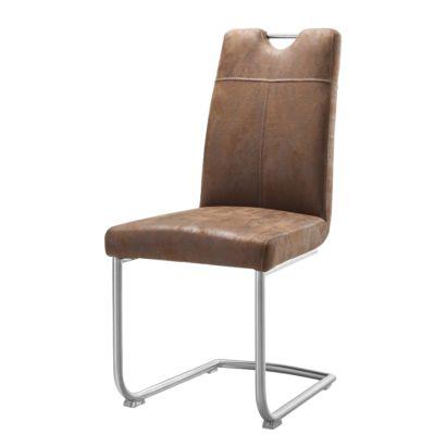 freischwinger leon 2er set microfaser braun home24. Black Bedroom Furniture Sets. Home Design Ideas