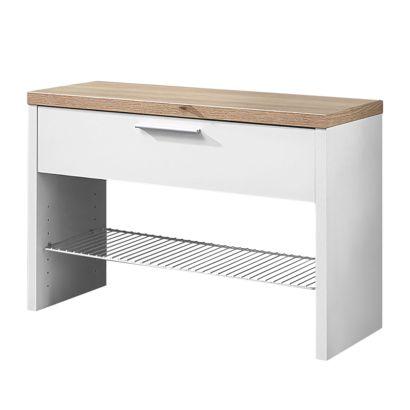 garderobenbank texture eiche sonoma dekor wei home24. Black Bedroom Furniture Sets. Home Design Ideas