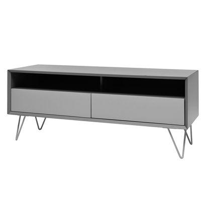tv lowboard jerrell mat grijs. Black Bedroom Furniture Sets. Home Design Ideas
