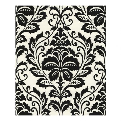 vliestapete flock schwarz wei home24. Black Bedroom Furniture Sets. Home Design Ideas