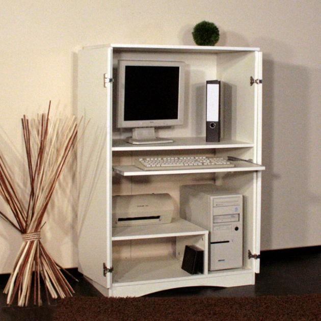 pc schrank peter mit t ren dekor in wei online kaufen. Black Bedroom Furniture Sets. Home Design Ideas