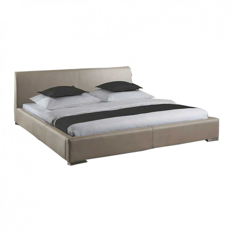 cadre de lit matelass alto rev tement en cuir synth tique. Black Bedroom Furniture Sets. Home Design Ideas