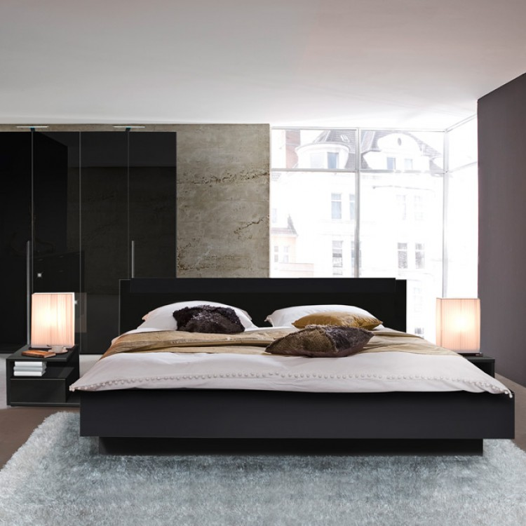 bed basic onzichtbaar voetstuk zwart. Black Bedroom Furniture Sets. Home Design Ideas