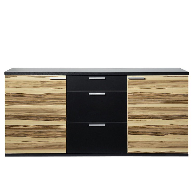 sideboard clip schwarz baltimore nussbaum dekor home24. Black Bedroom Furniture Sets. Home Design Ideas
