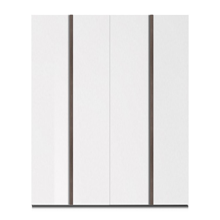 armoire portes battantes linea s blanc brillant. Black Bedroom Furniture Sets. Home Design Ideas