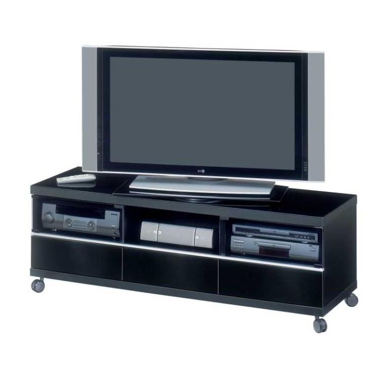 Tv meubel bobbie zwart glas verschillende varianten for Tv meubel glas