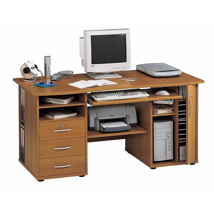 Computertisch cs 160 buche home24 for Computertisch in buche