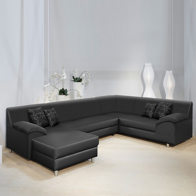 canap panoramique gigogne en u sabrina cuir synth tique. Black Bedroom Furniture Sets. Home Design Ideas