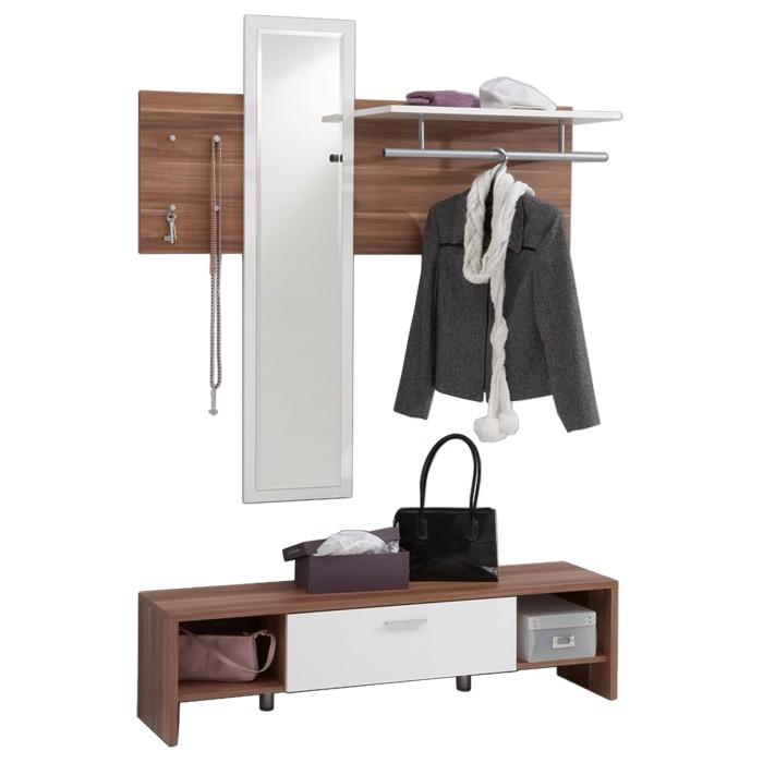 Garderobe ursula pruimenhout wit - Home24 garderobe ...