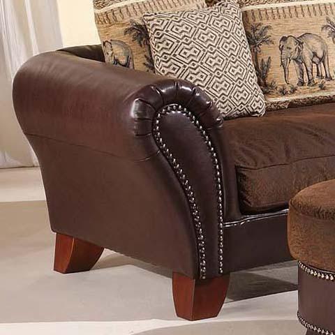 big sofa york kunstleder braun home24. Black Bedroom Furniture Sets. Home Design Ideas