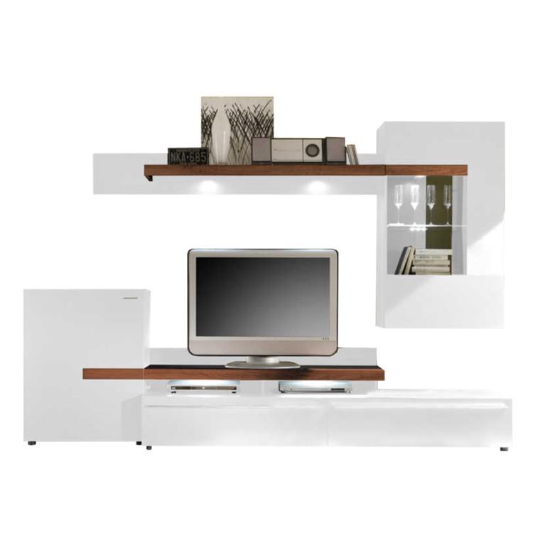 Ensemble meuble tv cello blanc bon prix en ligne for Element meuble tv