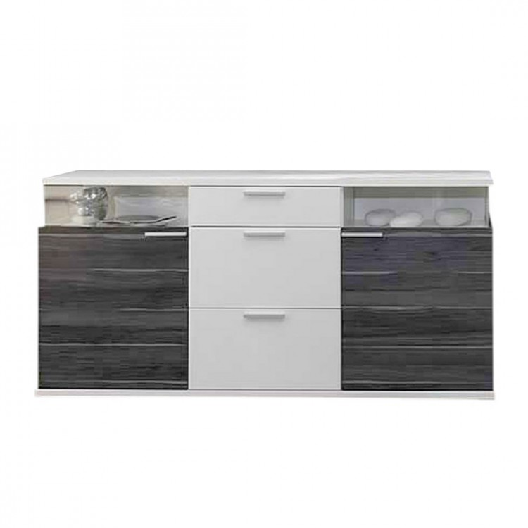 sideboard clip mit 2 vitrinenf cher home24. Black Bedroom Furniture Sets. Home Design Ideas