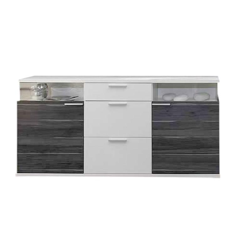 sideboard clip mit 2 vitrinenf cher home24. Black Bedroom Furniture Sets. Home Design Ideas