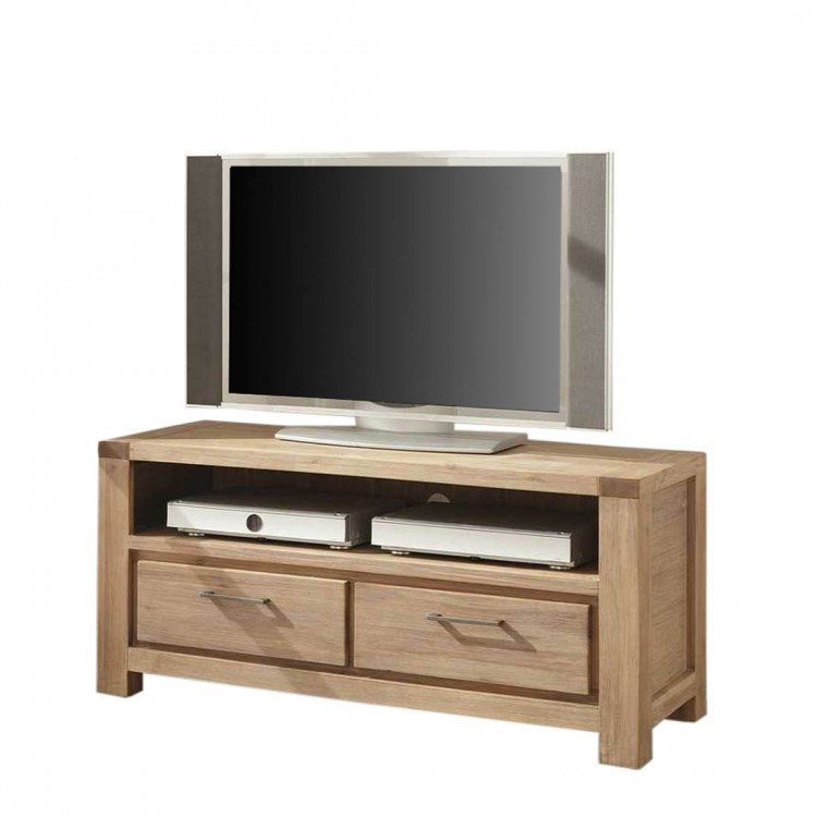 meuble tv coast acacia bross 2 tiroirs. Black Bedroom Furniture Sets. Home Design Ideas