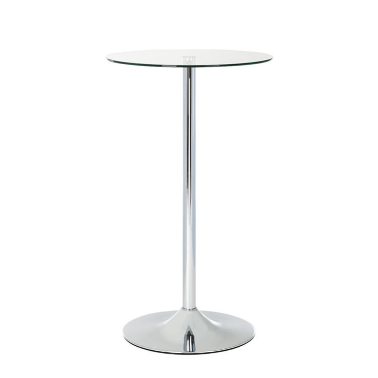 bartisch glas metall chrom stehtisch bistrotisch 60cm tresentisch tisch ebay. Black Bedroom Furniture Sets. Home Design Ideas