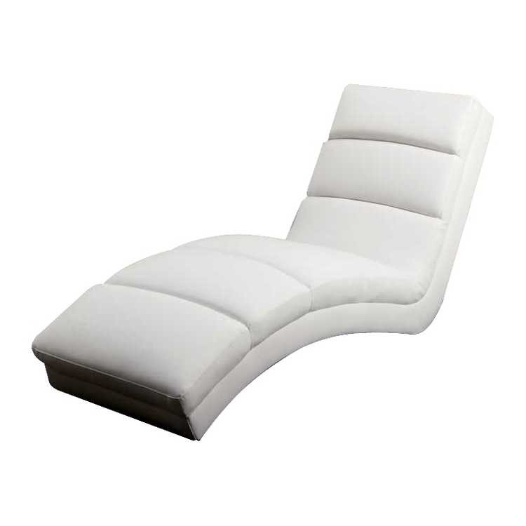 Chaise longue de relaxation twist cuir synth tique blanc - Chaise de relaxation ...