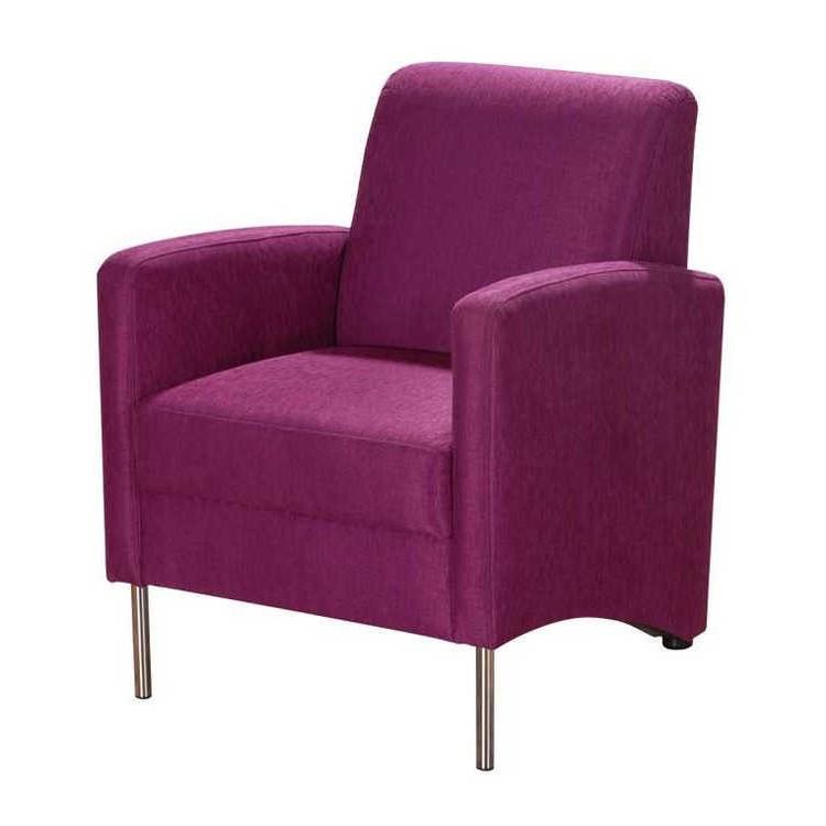 Sessel favono strukturstoff violett home24 for Ohrensessel violett