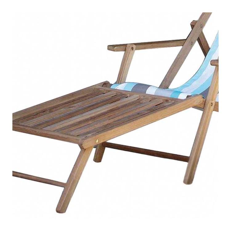 repose pied en bois fiji adapt pour chaise longue. Black Bedroom Furniture Sets. Home Design Ideas