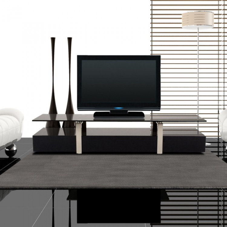 tv tisch drama schwarz home24. Black Bedroom Furniture Sets. Home Design Ideas