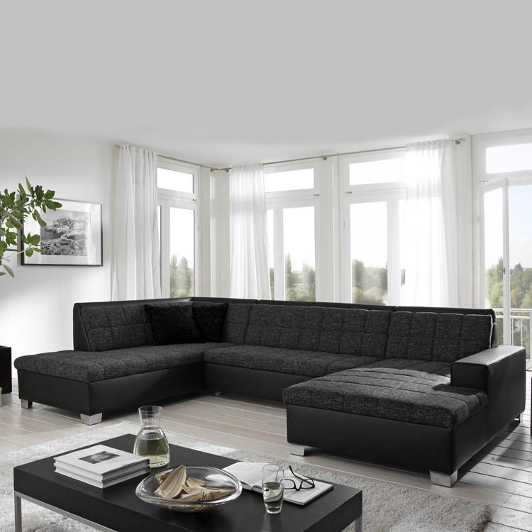 wohnlandschaft henderson kunstleder home24. Black Bedroom Furniture Sets. Home Design Ideas