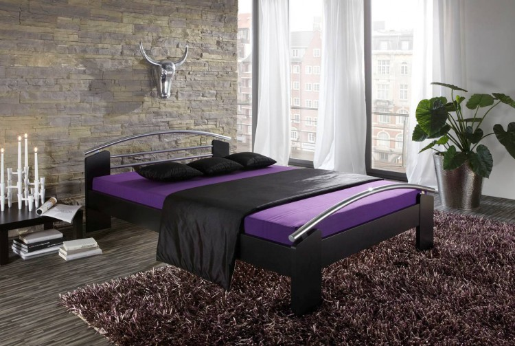 bett napier schwarz home24. Black Bedroom Furniture Sets. Home Design Ideas