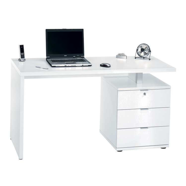 brook bureau blanc fa ade couleur blanc brillant. Black Bedroom Furniture Sets. Home Design Ideas