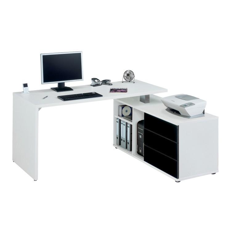 Bureau d 39 ordinateur stacey buffet pivotant 360 for Bureau d ordinateur