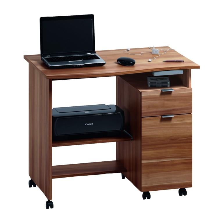 computertisch ct 25 nussbaum dekor home24. Black Bedroom Furniture Sets. Home Design Ideas