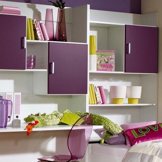 jugendzimmer flow 3 teilig kleiderschrank bett regalwand home24. Black Bedroom Furniture Sets. Home Design Ideas