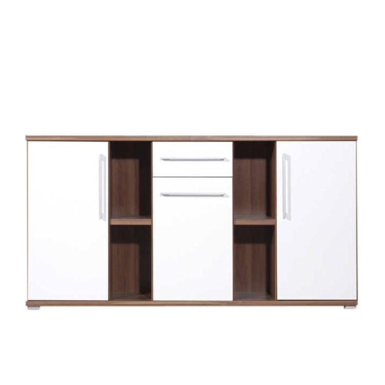 sideboard juntos nussbaum creme dekor home24. Black Bedroom Furniture Sets. Home Design Ideas