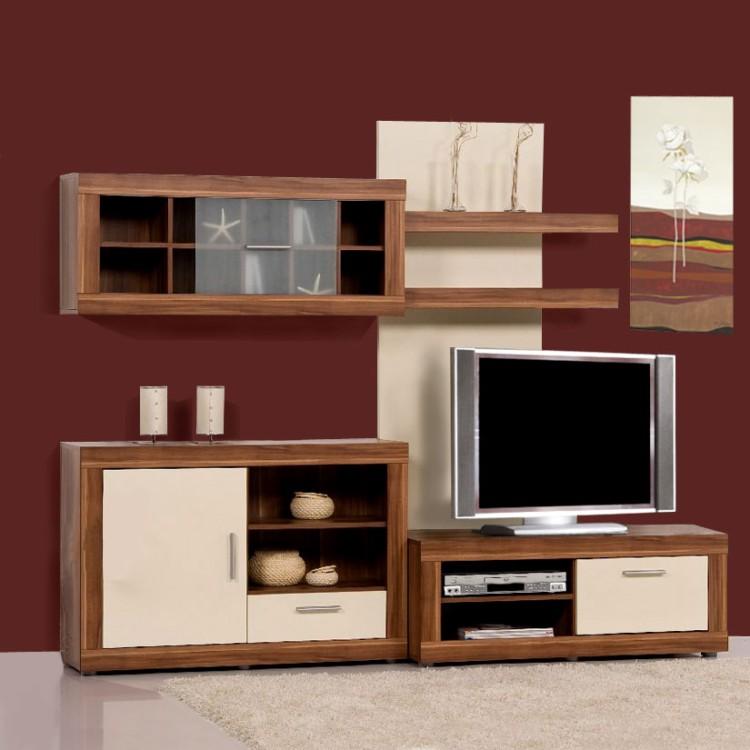 ensemble meuble tv chic 4 l ments. Black Bedroom Furniture Sets. Home Design Ideas