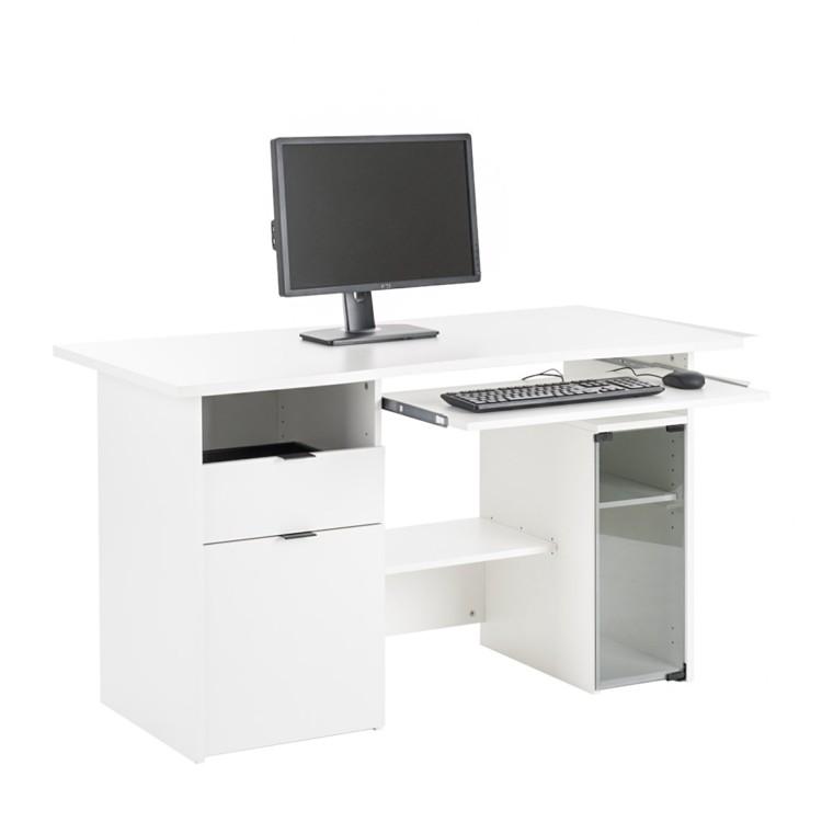 bureau bureaux multimedia pour ordinateur lara blanc et