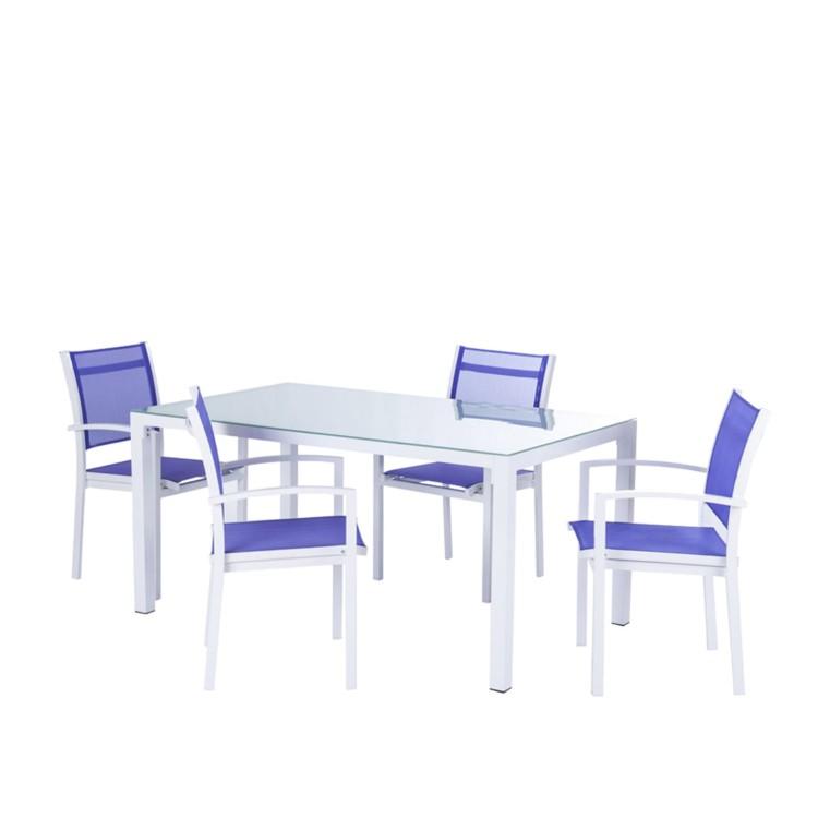 Tuinset lesay 5 delige set met tafel en stoelen for Verschillende kleuren eetkamerstoelen