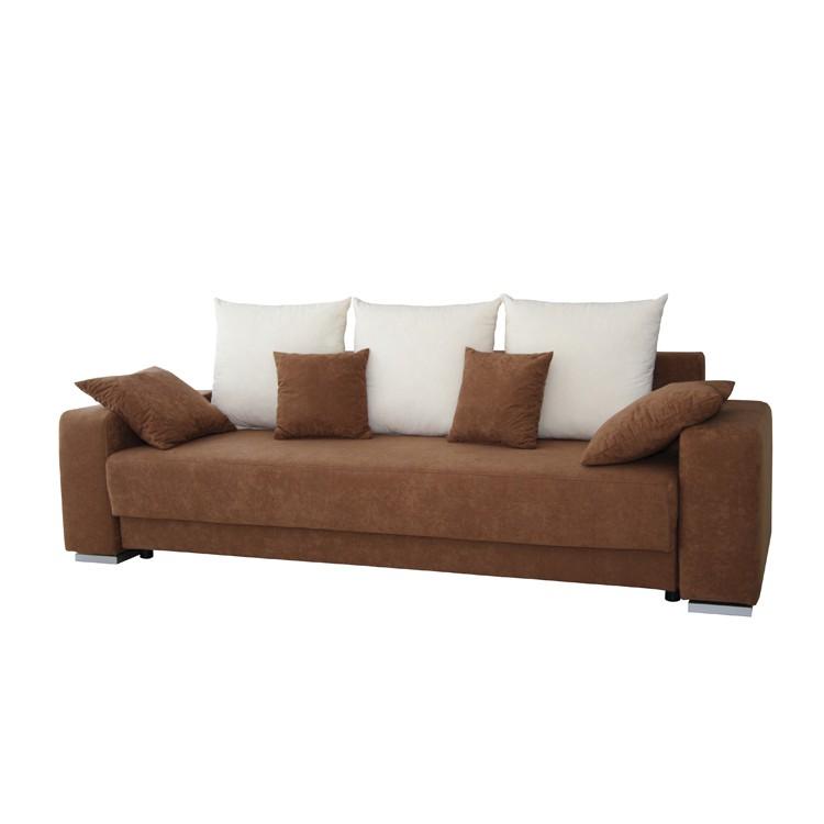 ecksofa stoff braun beige 3 sitzer sofa couch eckcouch. Black Bedroom Furniture Sets. Home Design Ideas