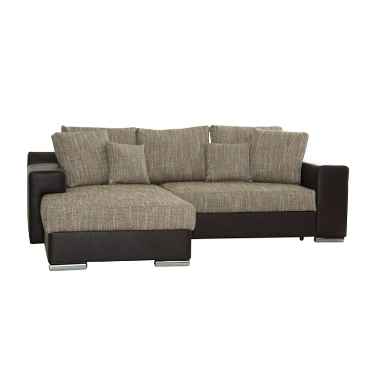 ecksofa schlafsofa longchair textil braun schlafcouch eckcouch sofa couch neu ebay. Black Bedroom Furniture Sets. Home Design Ideas
