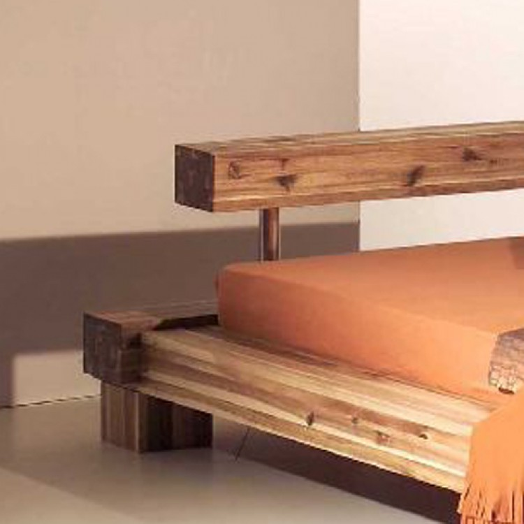 massivholzbett cali akazie massiv home24. Black Bedroom Furniture Sets. Home Design Ideas