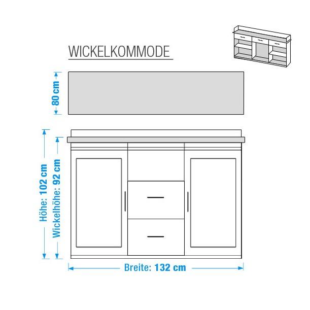 wickelkommode odette kiefer massiv home24. Black Bedroom Furniture Sets. Home Design Ideas