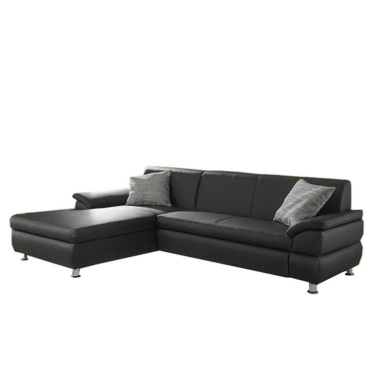 ecksofa orlando mit schlaffunktion kunstleder schwarz home24. Black Bedroom Furniture Sets. Home Design Ideas