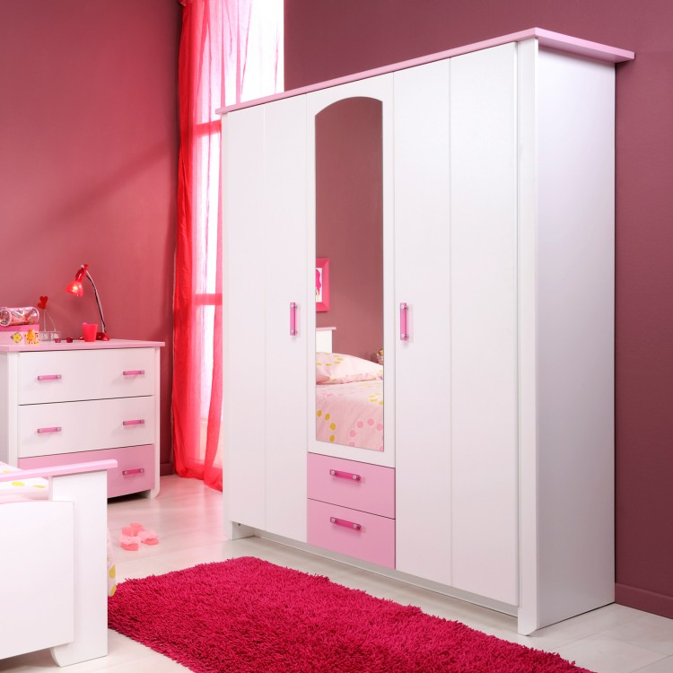 jugendzimmer set biotiful 4 teilig wei rosa kaufen. Black Bedroom Furniture Sets. Home Design Ideas