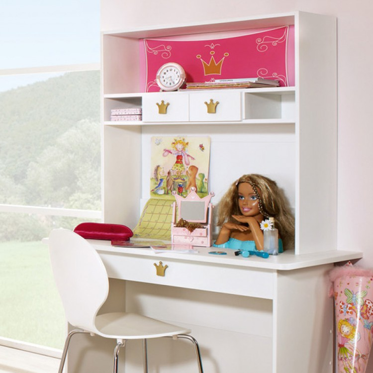 bureau enfant princesse kate avec tiroir sans r hausse tag re. Black Bedroom Furniture Sets. Home Design Ideas