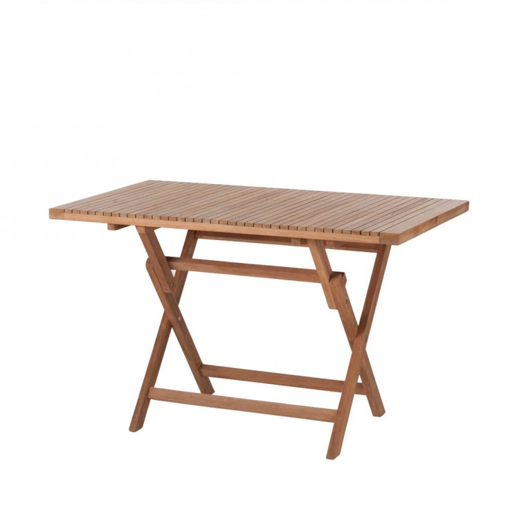 Table de jardin pliante samoa teck naturel 120 x 75 cm for Table de jardin pliante