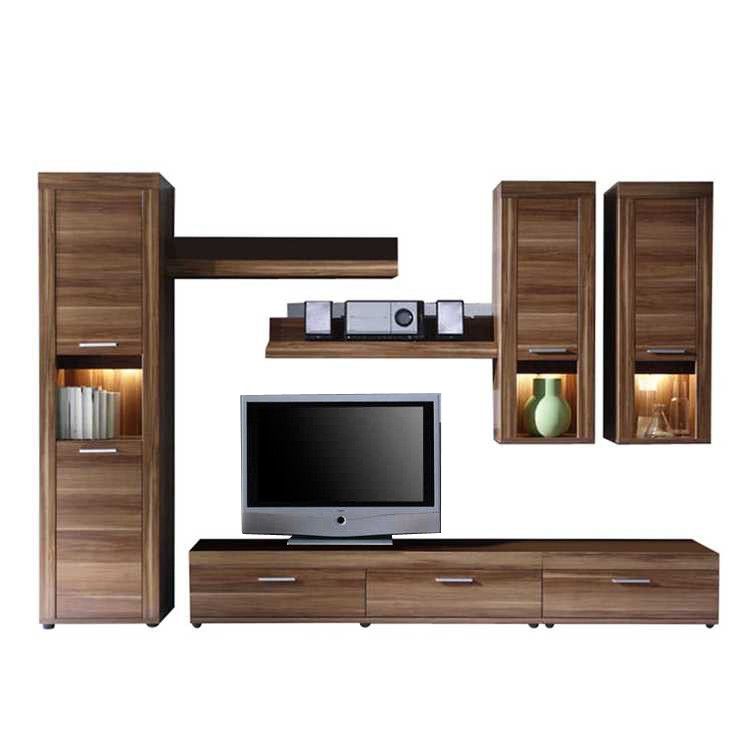 combinaison meuble tv santa gra noyer. Black Bedroom Furniture Sets. Home Design Ideas