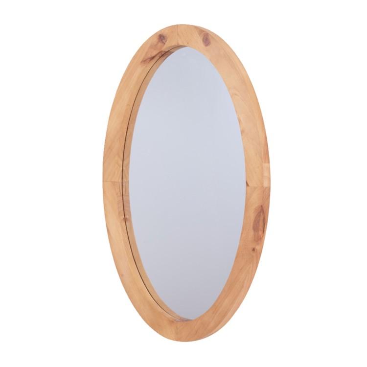 Miroir encadr siesta pin massif teint et cir for Miroir encadre