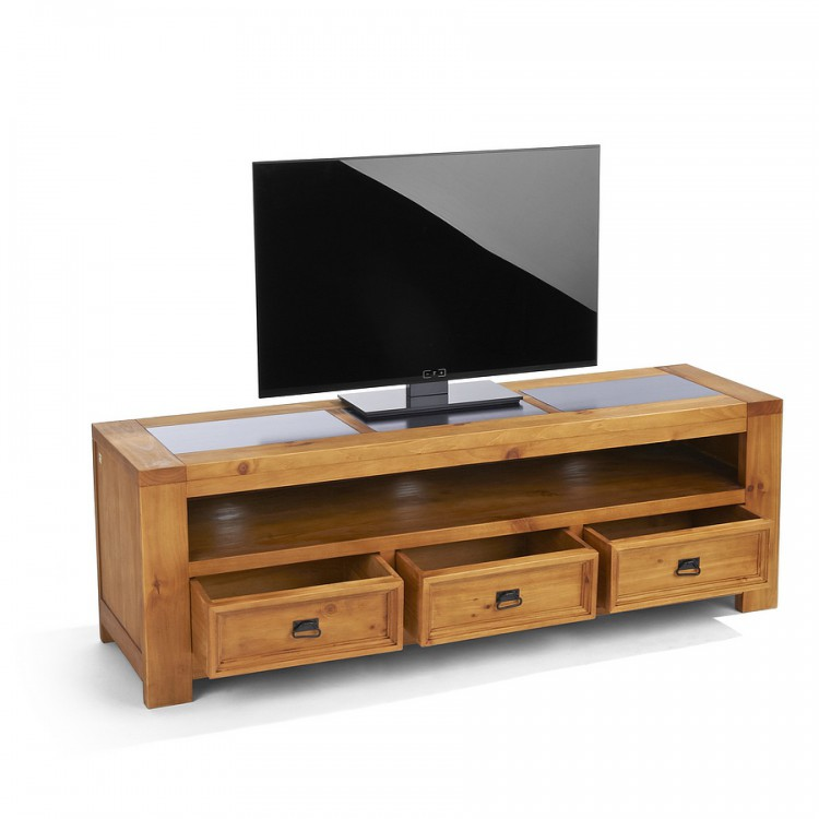tv board lowboard pinie massivholz tv rack fernsehtisch tv rack unterschrank neu ebay. Black Bedroom Furniture Sets. Home Design Ideas