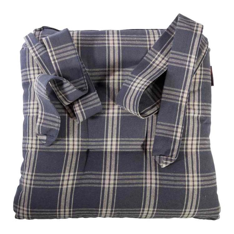stuhlkissen mit schlaufen grau baumwolle sitzkissen stuhl auflage kissen neu ebay. Black Bedroom Furniture Sets. Home Design Ideas